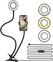 Ring Light 2 em 1 com Suporte para Celular 360° gravação Videos Fotos Kit Youtube - Iluminação Profissional
