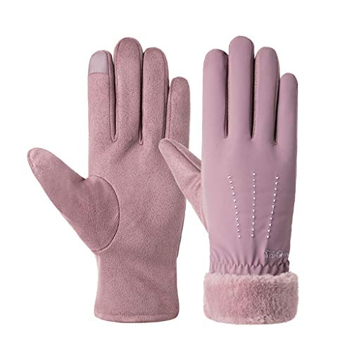 TOTAMALA Women Gloves Tea Party Windproof Wrist Warm Gloves Winter Mittens Driving Ski Glove