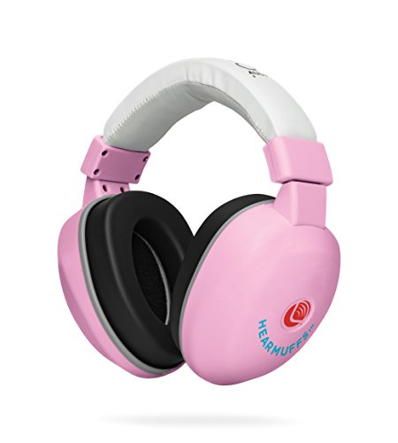 Lucid Audio HearMuffs Baby Hearing Protection (Over-the-ear Sound Protection Ear Muffs Infant/Toddler/Child) (White)