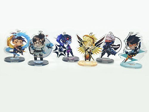 GALIGEIGEI Overwatch Acrylic desk decoration, Figure (Key chain) Photo #2