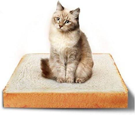zrse mascotas colchón para gatos y perros pequeños rectangular de cojín, diseño tostada alfombrilla de cama sofá Home suave y cálida, hilo para y de perro ...