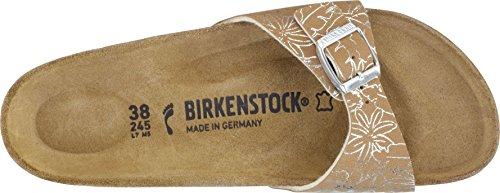 Birkenstock - Zuecos de birko flor para mujer CAMEL/GOLD