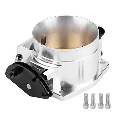 Throttle Position Sensor, Aluminum Alloy 102mm Throttle Body + Throttle Position Sensor Universal (Silver):