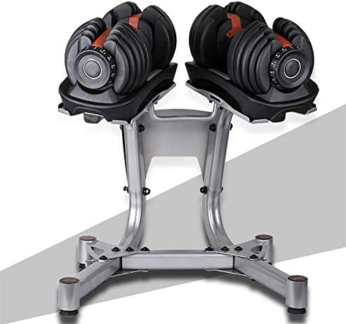 HVUE Upgrade 330LBS Dumbbell Stand Adjustable Dumbbell Rack Standard Metal Dumbbell Holder Weight Rack with Wheels for Home Gym(Only Stand)