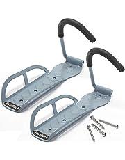 FastRack - Gancho para colgar en la pared de cochera, soporte de pared para cochera o cobertizo interior, resistente, fácil almacenamiento, capacidad para 29,5 kg (2)