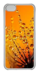 Customized iphone 5C PC Transparent Case - Yellow Drops Cover