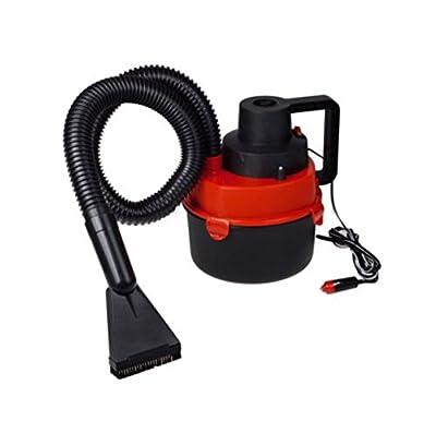 Red Vacuum Cleaner Inflator Pump Portable Wet & Dry Mini Car Robotic 12 V