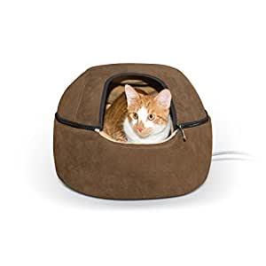 Amazon Com K Amp H Pet Products Thermo Kitty Dome Bed Heated