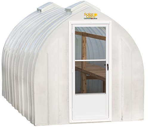 Solar Gem 8' x 12' Medium, Fully Assembled, Heavy Duty, Walk-In Fiberglass Greenhouse ()