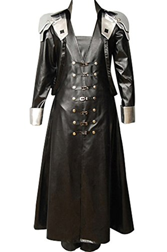 CosplaySky Final Fantasy Costume ff VII 7 Sephiroth Cosplay Halloween Coat (Final Fantasy 7 Costumes)