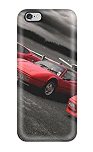 Flexible Tpu Back Case Cover For Iphone 6 Plus - Red Ferraris Wallpaper