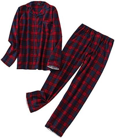 メンズパジャマ 長袖 メンズ 綿100% 部屋着 寝巻き 春 秋 冬 ナイトウェア チェック柄 水玉 前開き 柔らか pjm1a