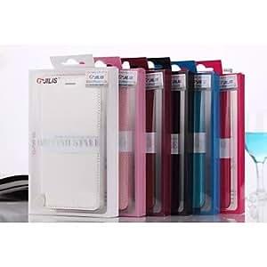 WQQ Funda con Atril/Funda de Cuerpo Entero - De Un Color/Diseño Especial - para iPhone 6 Plus ( Negro/Blanco/Azul/Marrón/Rosa/Rosado ,Policarbonato/Cuero , Rose