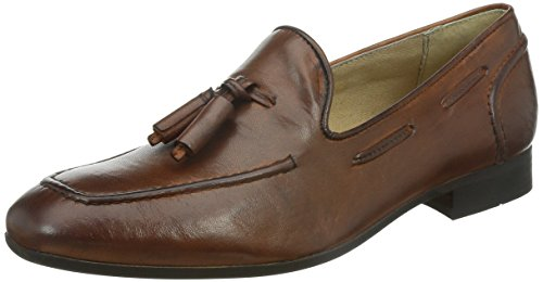 H by Hudson Men's Pierre Slip-On Loafer, Tan, 43 EU/10 M US by H by Hudson