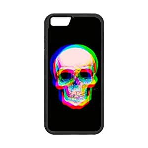 3D Skull iPhone 6 Plus 5.5 Inch Cell Phone Case Black HX4464803