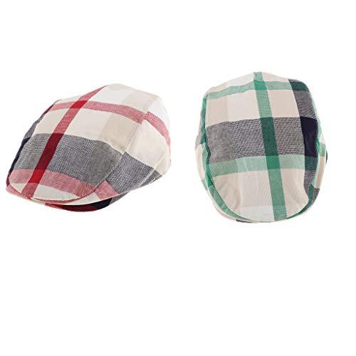 Baosity Sombrero De Tela Escocesa Retro 2 Piezas Boina Infantil Para Bebé  Tapa De Los Niños 9ab068ad2f0