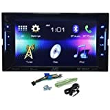 "JVC KW-V21BT Double Din Multimedia Car DVD/CD Reciever With 6.2"" Touch Screen Monitor, Bluetooth Built in, SeriusXM Ready, Integrations For iPhone/Android, and Pandora"