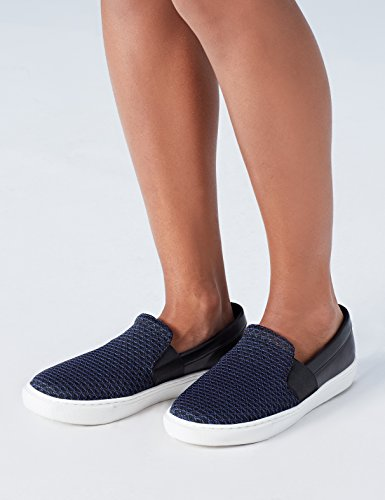 FIND Scarpa Navy Donna Inserto con Slip Black Nero On ffOqxZr1wT
