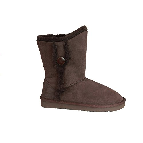 Eastern Lacey Leather Counties Peau De Chocolat Mouton En Bottes Femme qBrFRnqW
