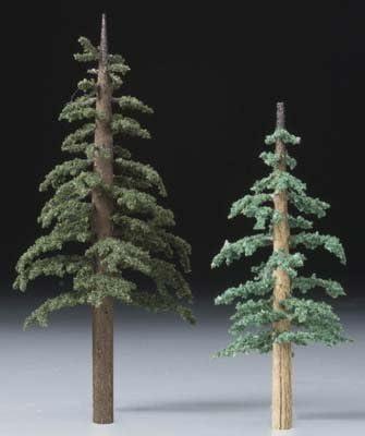 "Lodgepole 4/"" /& 5/"" Woodland Scenics Premium Trees"