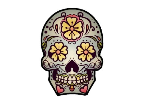 (Sugar Skull Decor Temporary Tattoo - Realistic Day of the Dead Body Art - Party Favor - Gift - Accessory - Set of 2 Cool Removable Dia de los Muertos)