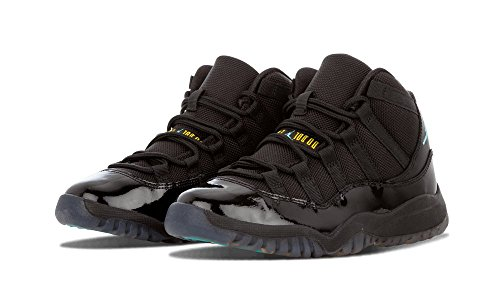 Baby Nike Jordan 11 Retro (PS) ''Gamma'' Basketball Shoes - 378039 006, Black/Gamma Blue-Varsity Maize - Size 12C US by NIKE