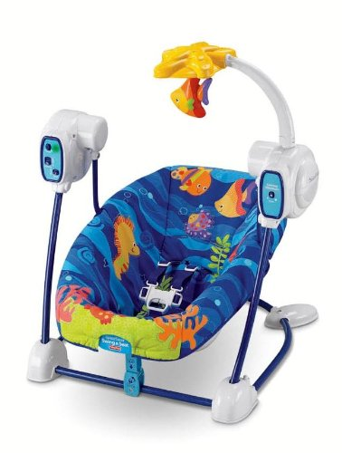 fisher price ocean wonders space saver swing and seat amazon ca baby rh amazon ca Fisher-Price Aquarium Swing Parts fisher price ocean wonders cradle n swing instruction manual