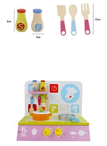 BeesClover B\u00e9b\u00e9 en Bois Cuisine Jouet Set Kid Filles Enfants Cuisine Jouer Cuisine Set \u00e9ducatif en Bois Jouets Enfants Cadeaux