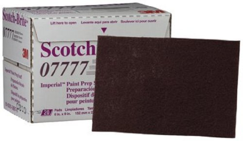 Scotch-Brite(TM) Paint Prep Scuff Hand Pad 07777 Maroon, Silicon Carbide, 9'' Length x 6'' Width  (Pack of 60) by Scotch-Brite