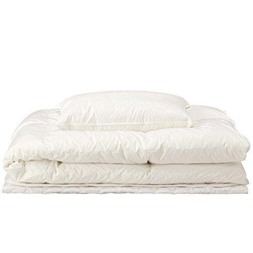 [Muji] White down quilt, Pillow and Bed pad Set from Japan
