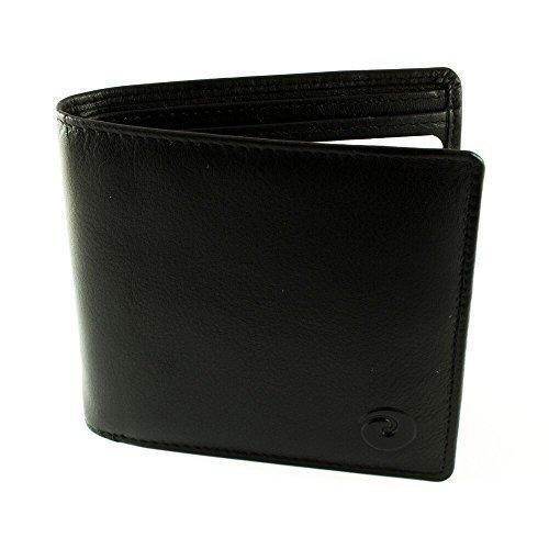 RFID Geeignet Origin Herren Schwarz Leder Geldbörse + Geschenkbox
