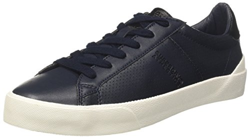 Eclipse Superdry Collo a Black Blu Vintage Navy Basso Sneaker Trainer Court Uomo 64rWz61H