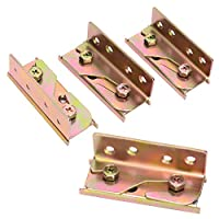 Accessbuy Heavy Duty Non-Mortise Bed Rail Bracket Bed Rail Fasteners Set of 4 (AC105)