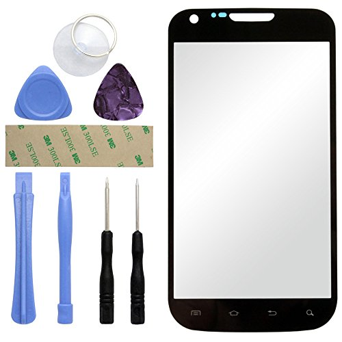 Fenzer Black Replacement Glass Lens Screen for Samsung SGH-t989 Galaxy S II 2 Hercules with 8 Piece Tool Kit