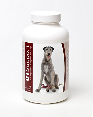 Healthy Breeds Bladder Control Support for Dogs for Irish Wolfhound - Over 200 Breeds - 75 Count - Relief for UT UTI Kidney & Bladder Infections