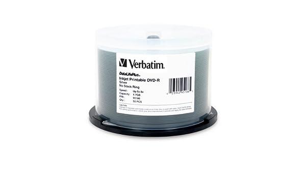 Verbatim DVD-R 4.7GB 8X DataLifePlus, Silver Inkjet ...