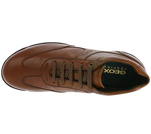 Geox U743BB Braun Primavera in Scarpe 2018 Nere Uomo Pelle Sneakers Classiche Estate rSnqrCg