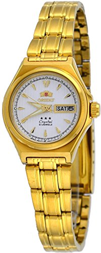 Orient #FNQ1S002W Women's 3 Star Gold Tone Stainless Steel White Dial Automatic ()