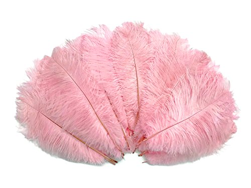 1/2 Lb - 8-10'' Baby Pink Wholesale Ostrich Drab Feathers (Bulk) Party Centerpiece Wedding Gatsby | Moonlight Feather by Moonlight Feather | USA SELLER (Image #3)
