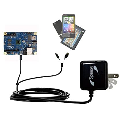 Dual Wall / Travel AC Charger compatible with Arduino Intel Galileo - One Charger for up to two devices with upgradeable Gomadic Brand (Arduino Galileo 2)