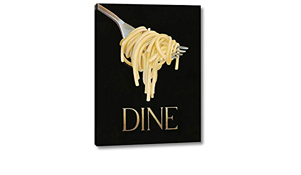 Gourmet Pasta Wedge Frame Picture Canvas Kitchen Dinner Dining Marco Fabiano