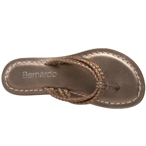 Bernardo Kvinners Miami Veves Flat Sandal Tinn / Bronse