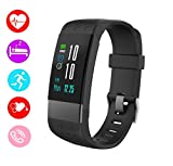 Fitness Tracker Smart Watch Heart Rate Monitor I7 Activity Trackers Bluetooth Blood Pressure Monitor Smart Watches Compatible iOS Samsung Android Phones (Black)
