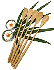 Decorate the dinner table on various occasions or give as a gift .Each stirrer measures approximately 8.5 inches long .Naturally water resistant, reusable and easy to clean .Handmade products and natural color.Product from Thailand By NAVA CH...