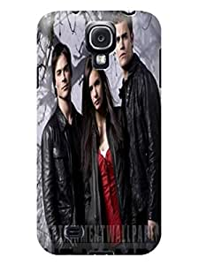 Slim lightweight shell tpu skin back cover case with petty cartoon for Samsung Galaxy s4(The Vampire Diaries)by Kathleen Kaparski
