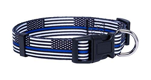 Thin Blue Line Flag Dog Collar (Medium)