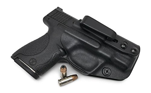 Concealment Express Tuckable IWB KYDEX Holster fits: Smith & Wesson M&P Shield 9MM/.40 (BLK, Tuck) - Ambidextrous - Adjustable Cant & Ride Height - US Made