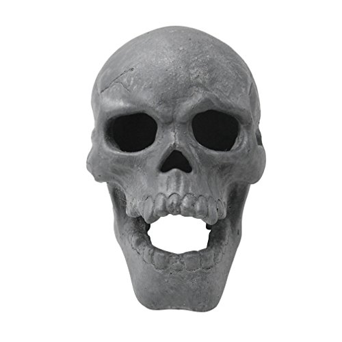 Stanbroil 9-Inch Imitated Human Skull Gas Log for Indoor or Outdoor Fireplaces, Fire Pits Halloween Decor, 1-Pack -