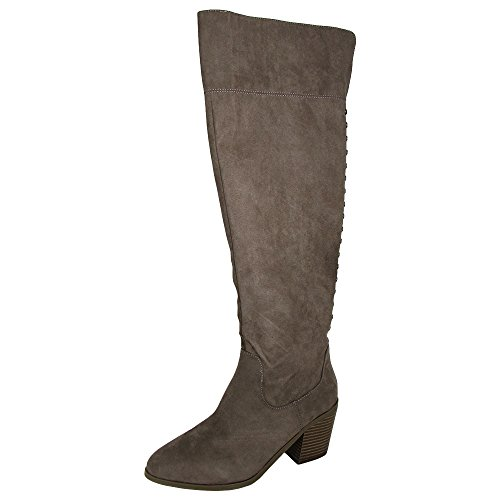 Madden Girl Women's Melinda Fashion Boot, Dark Taupe, 7.5 M US (Troops Boots)