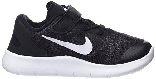 Nike Jungen Free RN 2017 (TDV) Sneaker Schwarz (Black/white/dark Grey/anthracite 002)